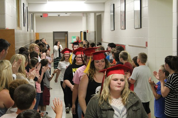 Senior Walk-Through in the Elementary!
