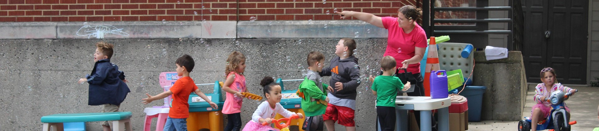 Bubble Fun in our Preschool!