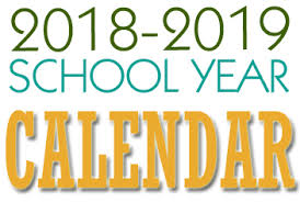 photograph regarding School Calendar -16 Printable named The 2018-2019 College or university Calendar - Ludlow Individual Colleges